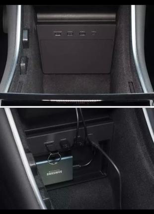USB hub 5 портов с подключением под Ssd накопитель для Tesla M3