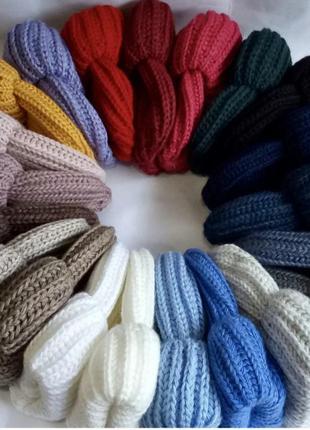 Шикарні об'ємні шапки ,можна з шарфом