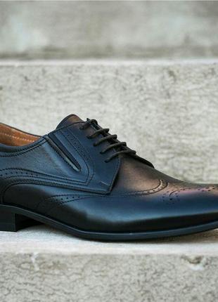 Кожаные мужские броги, туфли, оксфорды, дерби, челси