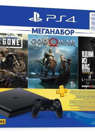 Sony PlayStation 4 1ТВ Slim Black + игры НОВАЯ