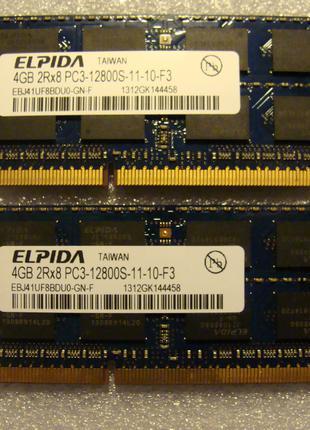 Продам Apple MAC Memory Elpida 4GB+4GB 2Rx8 PC3-12800S-11-10-F3
