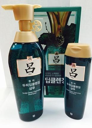 Лечебный освежающий шампунь для жирной кожи головы ryo shampoo.