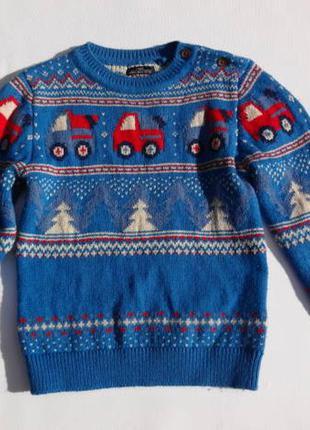 Next. новогодний толстый свитер 92 размер.