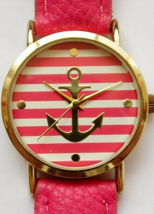 Geneva яркие часы из сша с якорем на циферблате