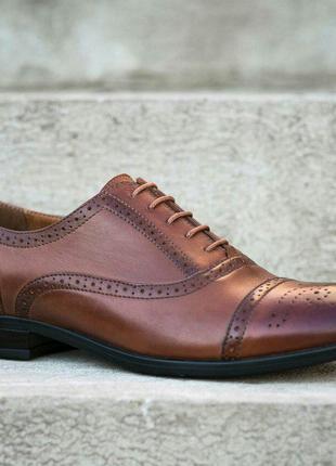 Кожаные мужские туфли, броги, дерби, оксфорды