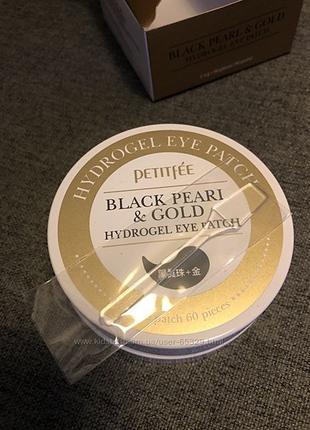 Гидрогелевые патчи Petitfee Black Pearl & Gold