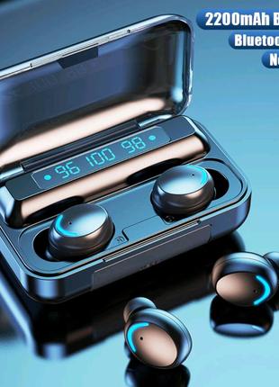 Беспроводные Bluetooth наушники с микрофоном спортивные водонепро