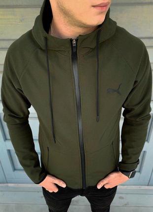 Трендовая куртка puma soft shell
