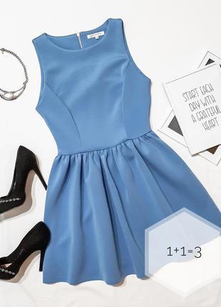 Glamorous базовое платье xs-s солнце клеш мини короткое одното...