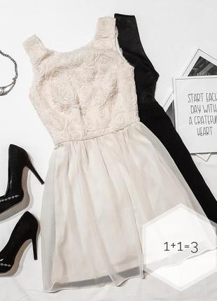 Atm нежное вечернее платье xs солнце клеш мини короткое пачка ...
