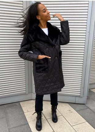 Куртка-пальто женская стеганая зимняя 201