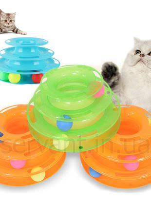 Игрушка пирамидка шарики для кошек