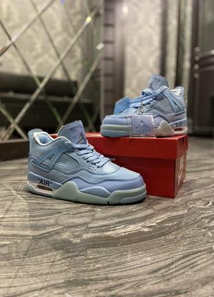 Кроссовки Nike Air Jordan 4 Light Blue.