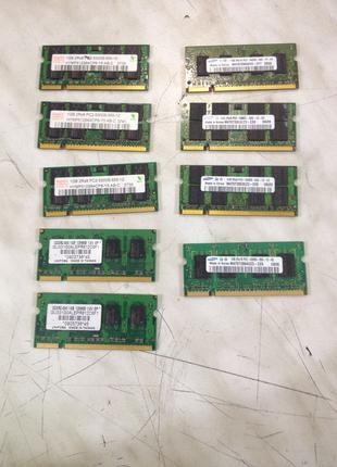 Модули памяти для ноутбуков sodimm ddr2 1Гб