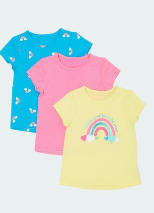 Набор футболочек 3 шт. в уп.dunnes, англия. размер 2-3 года