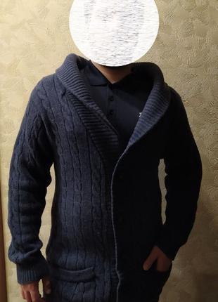 Мужской кардиган Farrell из овечьей шерсти на размеры 48-52