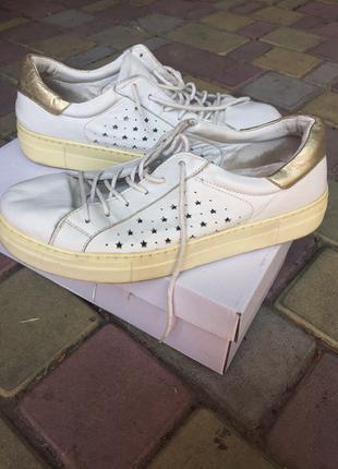 Белые кожаные Кеды, туфли, кроссовки Miraton family look