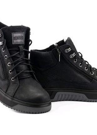 Мужские ботинки кожаные зимние черные Botus 42