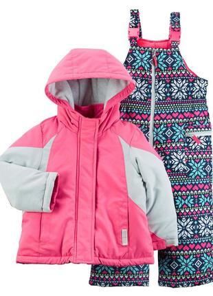 Комбинезон 2в1 зимний для девочки картерс  (куртка+штаны) в на...
