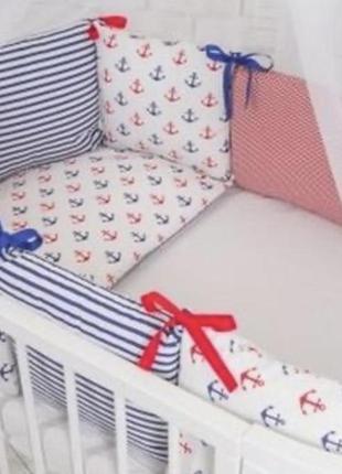 Бортики, защита, постельный комплект  в детскую кроватку
