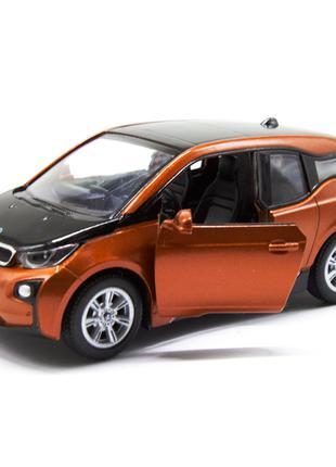 Модель электромобиль BMW i3 KT5380W оранжевый