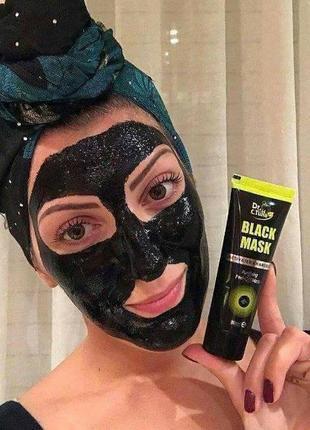 Угольная маска пленка для лица black mask от черных точек  dr....