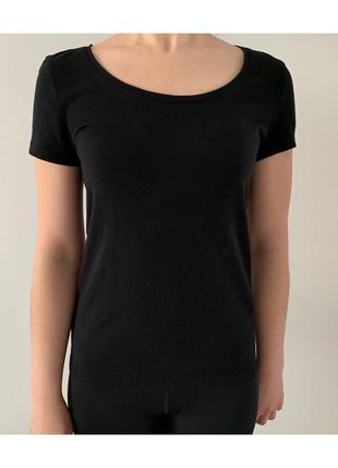Футболка, базова футболка, чорна футболка стильная.