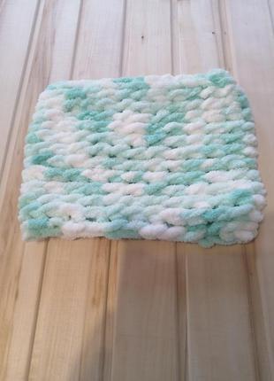 Плюшевый шарф хомут