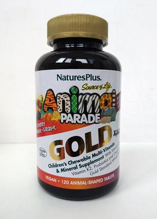 Витамины для детей Nature's Plus Animal Parade Gold, 120 шт