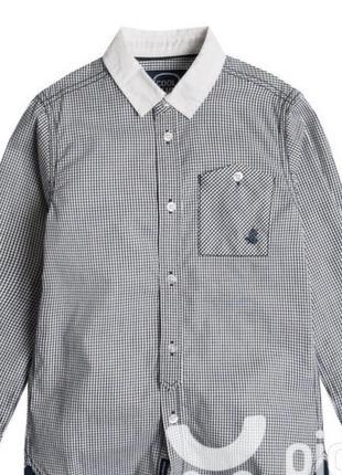 Рубашка нарядная клетка для мальчика