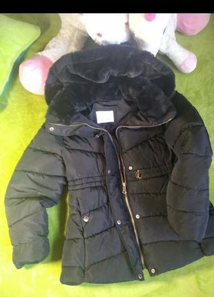 Куртка пуховик зима zara на ріст 140