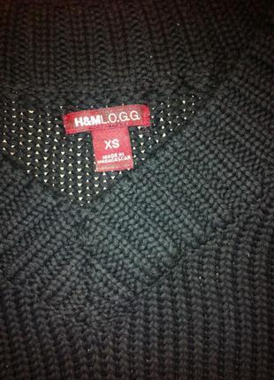 Черный свитер h&m