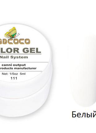 Гель-краска COCO 111, белая , 5г