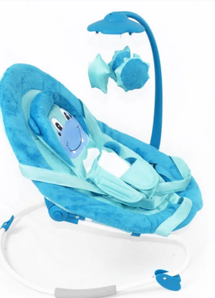 детский шезлонг-качалка BABY TILLY BT-BB-0002 BLUE ГОЛУБОЙ