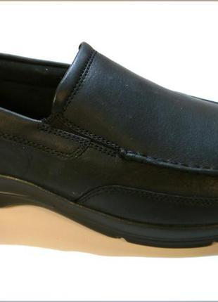 Rockport junction мужские черные туфли мокасины кожа оригинал