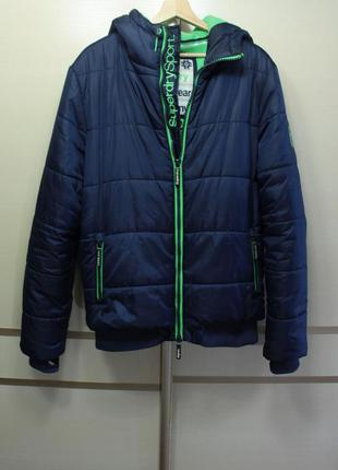 Оригинал superdry polar puffer jacket navy ms5jl007  куртка
