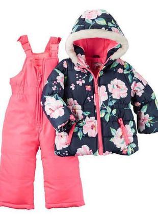 Комбинезон 2в1 зимний для девочки картерс (куртка+штаны) в нал...