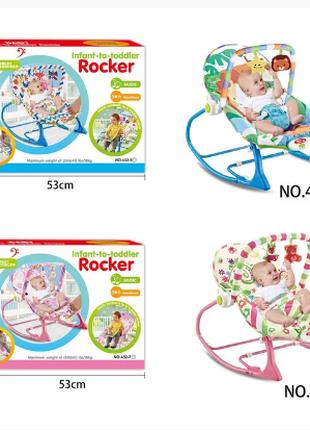 Детский шезлонг-качалка  BABY TILLY 432-5-6-7-8 ОТ 0-18 КГ