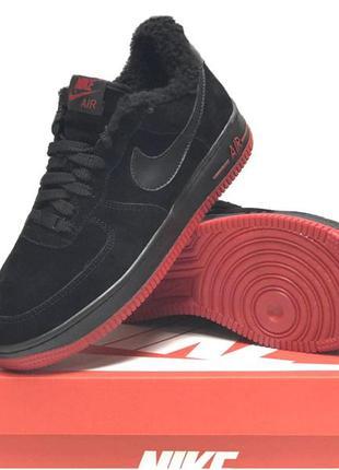 Мужские замшевые кроссовки на меху