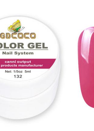 Гель-краска COCO 132 , розовый, 5г