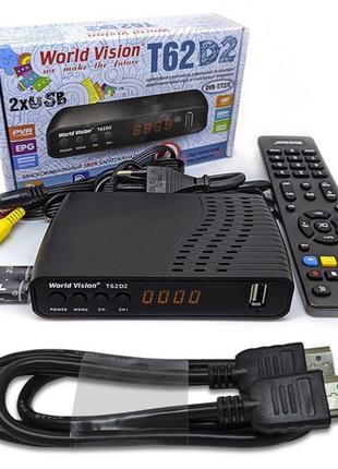 Комплект Т2 Ресивер WORLD VISION T62D2 + HDMI