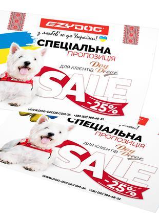 Разработка (дизайн) флаеров и листовок Украина