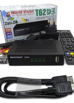 Комплект Т2 Ресивер WORLD VISION T62D3 + HDMI