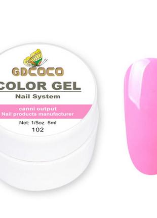 Гель-краска COCO 102, розово-сиреневый, 5г