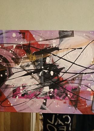 Картина абстракция акрилом