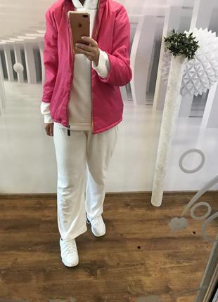 Куртка женская  плащевка розовая на синтепоне