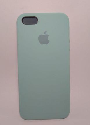 Задня накладка iPhone 5 Original Soft Touch Case Turquoise