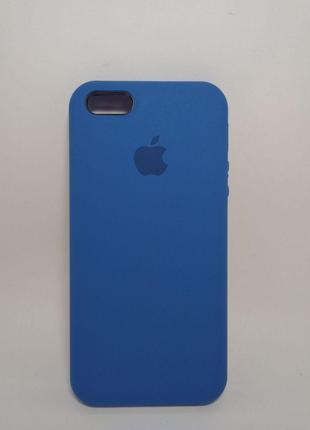 Задня накладка iPhone 5 Original Soft Touch Case Mist Blue