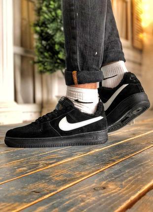 Nike Air Force Black Fur