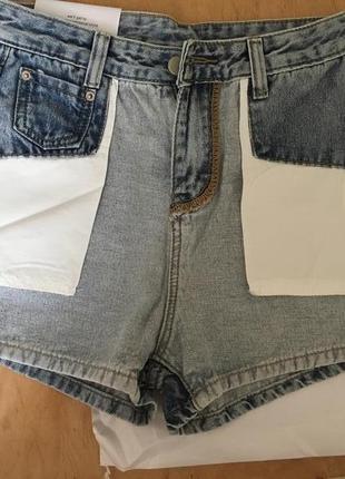 #ультрамодные  #джинсовые #шорты на высокой талии.